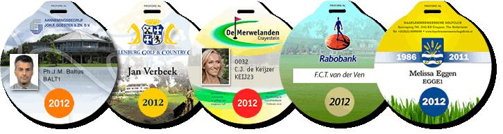 Golf -Taschenanhänger mit Photodruck